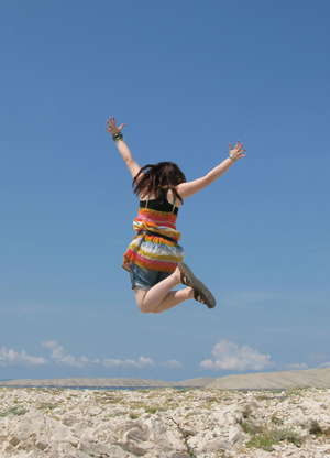 building confidence can make you jump for joy